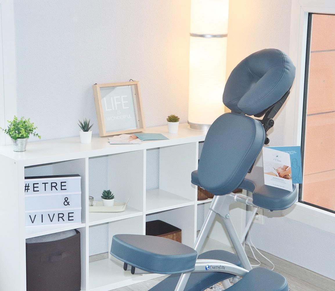 Chaise ergonomique pour Massage Cranien assis A2mains Montauban